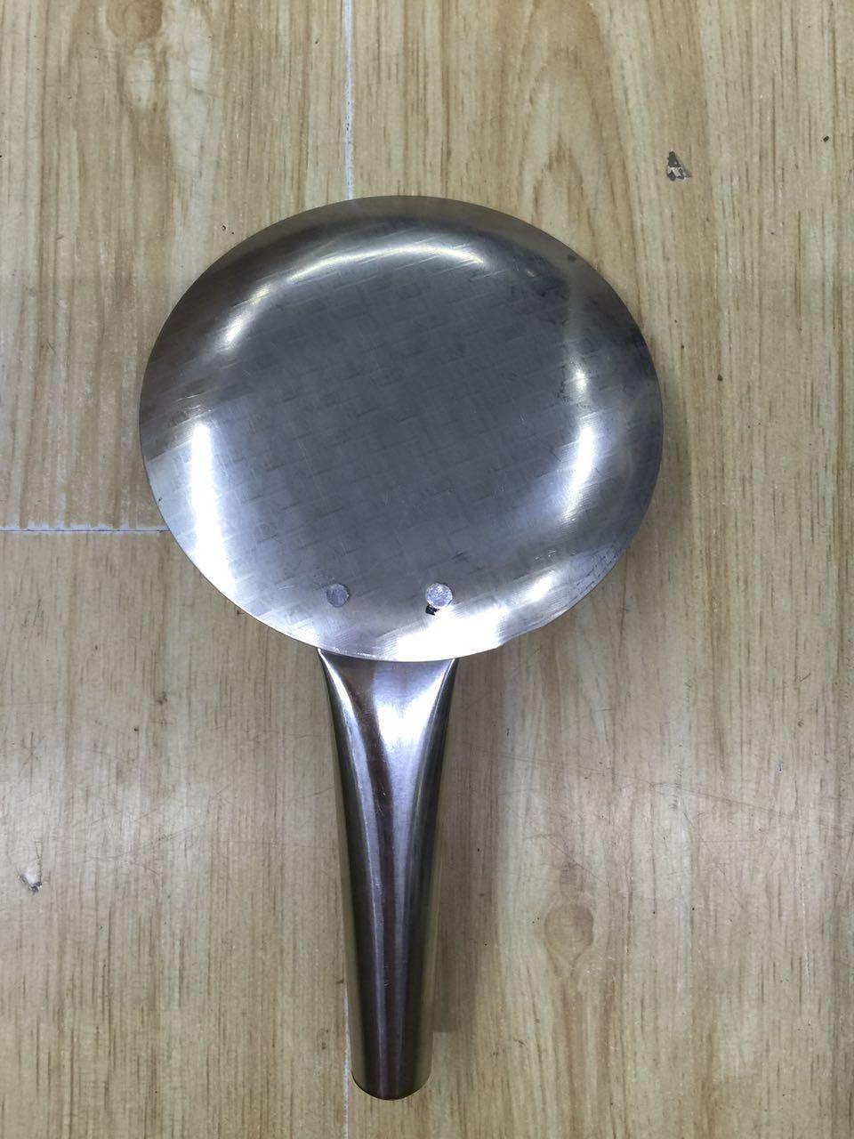 不锈钢盛豆腐花勺豆腐勺豆腐脑勺平勺勺豆腐工具 加厚豆勺 脑花勺