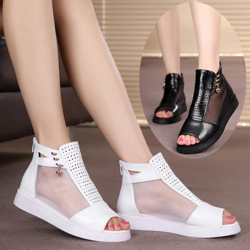 夏款女鞋平跟凉鞋
