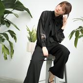 阔腿裤 游墨 时髦套装 长袖 徐娇织羽集 女装 平常汉元 素衣饰新品