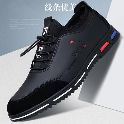 2019新款皮鞋男鞋春夏运动鞋子男韩版潮流百搭软面男士休闲鞋单鞋