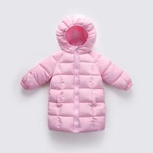 宝宝反季衣服 冬装 儿童羽绒棉服中长款 男童棉衣女童棉袄婴幼儿童装