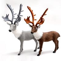 Simulation sika deer stag reindeer large decoration window arrangement Christmas decorations props supplies deer doll