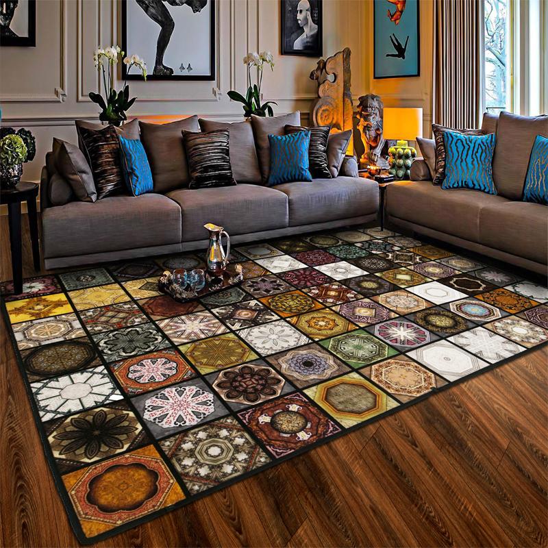 地毯客厅复古长方形