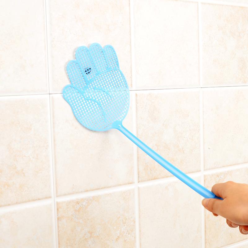 家用苍蝇拍 卡通加长手柄塑料手动蝇子拍蚊子拍 耐用灭蚊拍随意拍