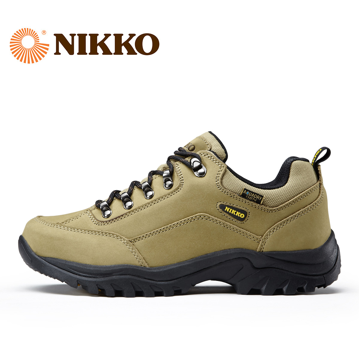Nikko日高登山鞋男运动鞋防水户外男鞋头层牛皮徒步鞋耐磨户外鞋