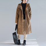 2019 winter dress new literary loose-fitting lamb wool warm lamp core velvet plus thick medium-length cotton coat