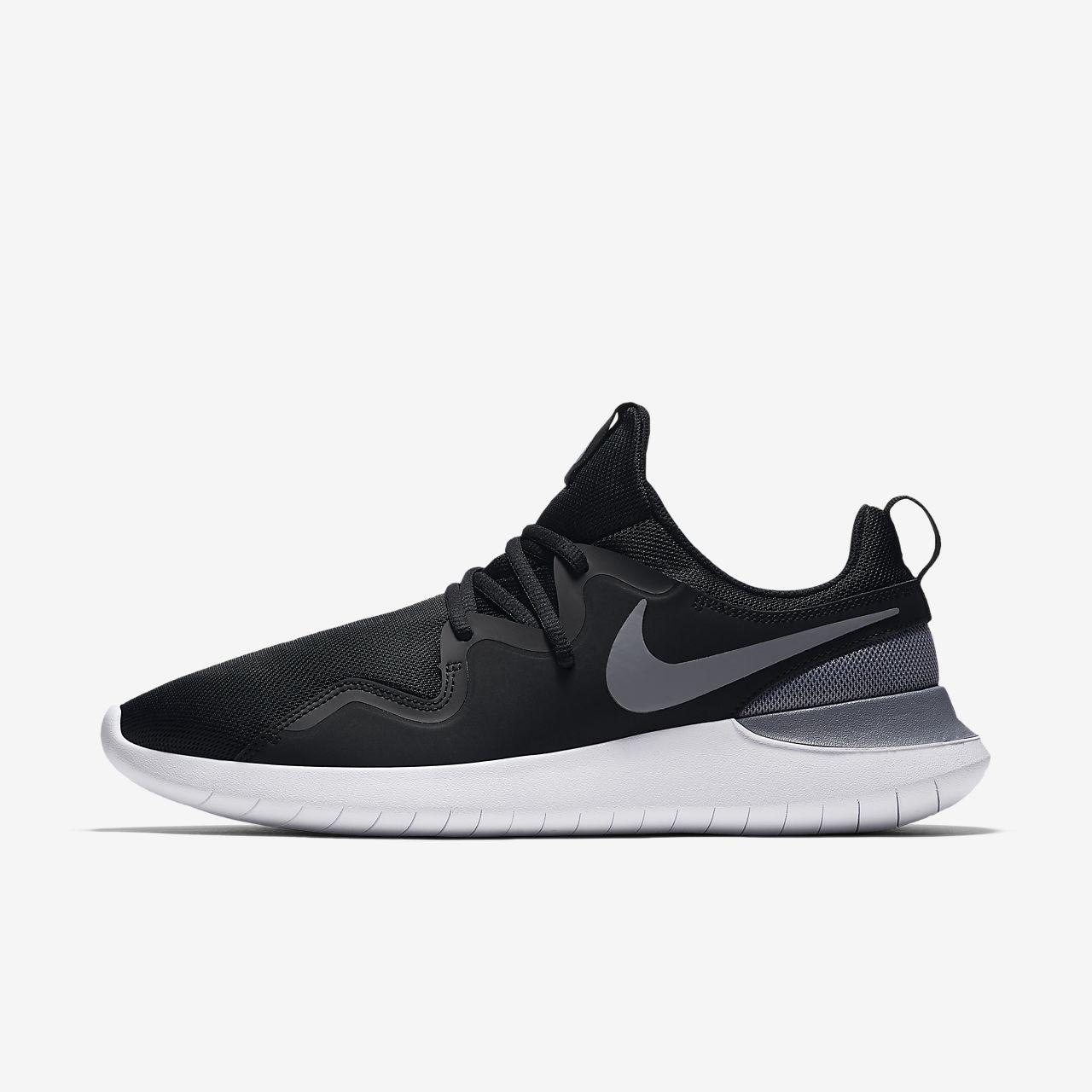 NIKE/耐克 TESSEN 黑白缓震柔软弯曲男跑步运动鞋 AA2160-001