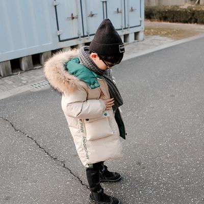 男童装加厚棉衣儿童棉袄中大童中长款外套羽绒棉服2018冬装男孩潮
