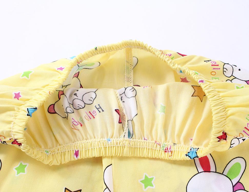 男童儿童绵绸睡衣短袖套装男孩家居服宝宝女童人造棉棉绸短裤夏季
