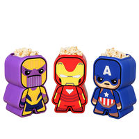 Genuine Marvel Authorized Avengers 4 Perimeter Popcorn Barrel 64oz Iron Man Storage Bucket Props