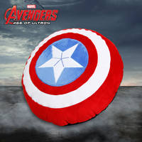 Marvel authorized genuine US captain 3 shield cushion pillow sofa cushion car pillow creative plush