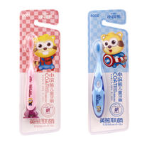 Little raccoon child toothbrush 3-6-12 year old baby child small head oral cleaning boy girl cartoon soft hair