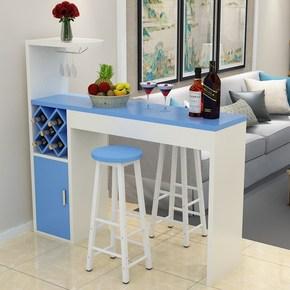 家用吧台桌简约客厅靠墙窄酒吧桌子创意奶茶店组装艺术风格型