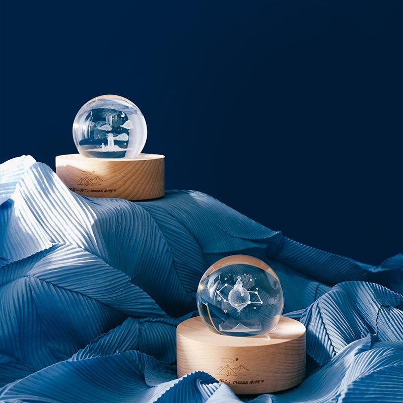杂啊&阿又一天水晶球小夜灯,100元左右送闺蜜创意礼物