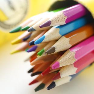 真彩彩色铅笔 36色儿童涂鸦绘画笔秘密花园填色彩笔彩绘素描铅笔