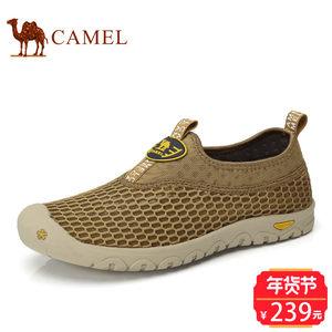Camel/骆驼男鞋2017春季新品户外休闲速干溯溪鞋徒步休闲网布鞋