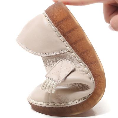 牛筋底防滑纯皮手工奶奶鞋复古文艺妈妈鞋真皮中老年舒服软底单鞋