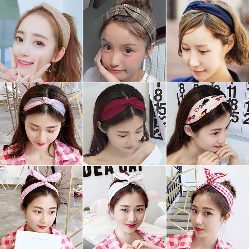 韩国洗脸头饰品ins甜美百搭网红女超仙可爱发箍束发带森女系头巾