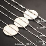 Genuine 18k white gold necklace o word fine AU750 spot counter does not lose color eighteen grams of collarbone