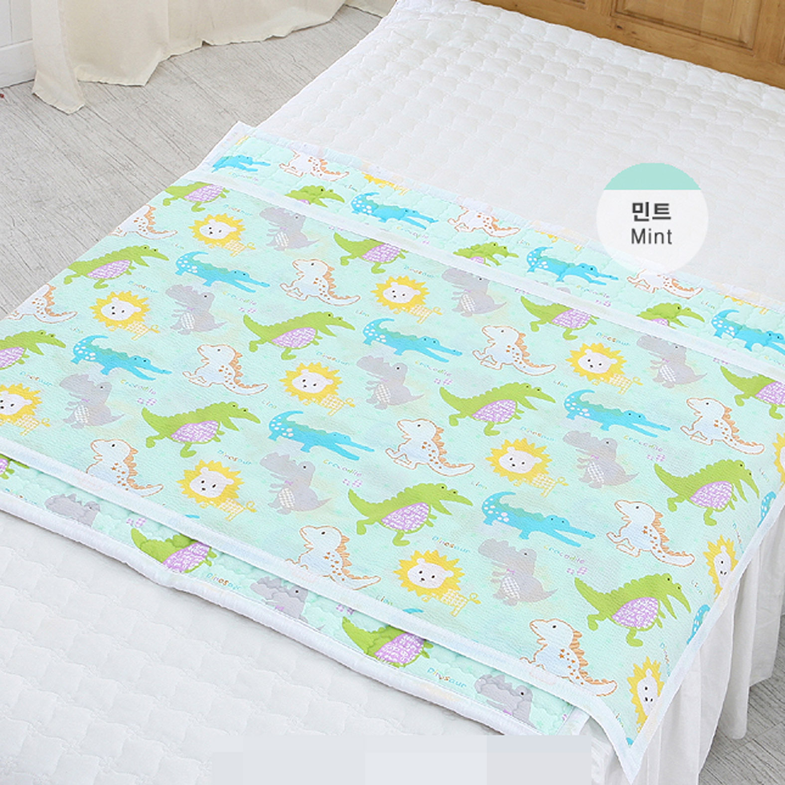 『SHOW韩国站』正品代购恐龙狮子鳄鱼印花儿童宝宝床单床褥垫被