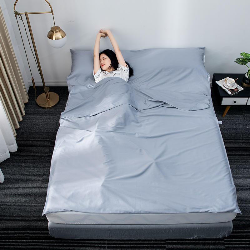 出差酒店隔脏睡袋60支纯棉旅游旅行床单单人双人宾馆便携式旅睡宝
