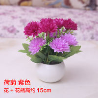 Desktop simulation fake flower set living room table small potted decoration bedroom coffee table decoration flower pot decoration