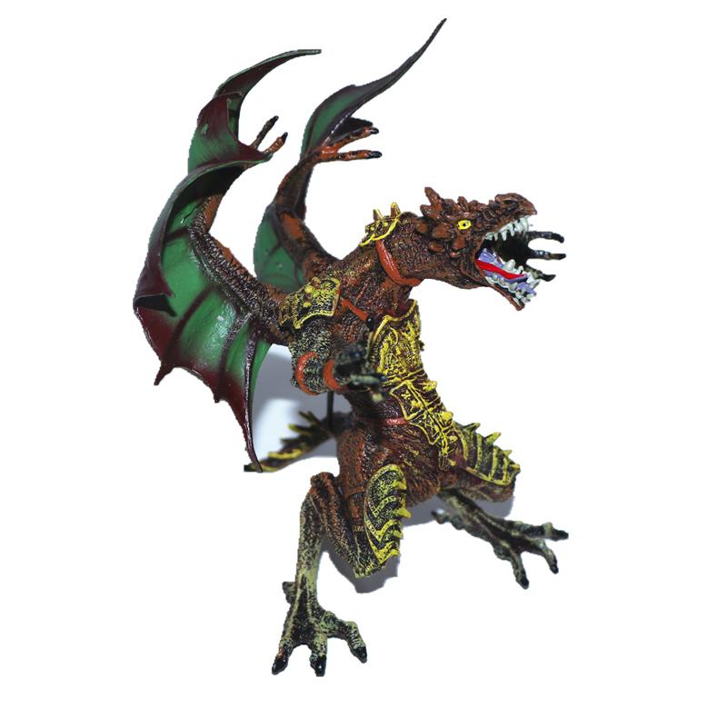 中杰铭出口欧美西方恶龙巨龙魔法飞龙恐龙翼龙怪物兽玩具模型手办