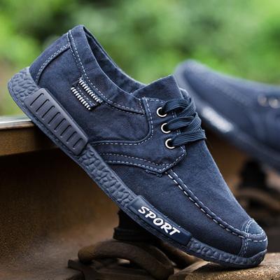 夏季透气男士帆布鞋韩版板鞋工作鞋子老北京布鞋男运动休闲鞋单鞋