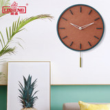 Lisheng wall clock modern minimalist living room silent clock Nordic swing clock home fashion personality quartz hanging watch