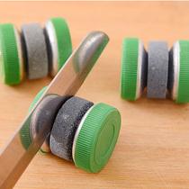圆形磨刀器创意家居生活用品剪刀棒剪子器加厚快速双面菜刀磨刀石