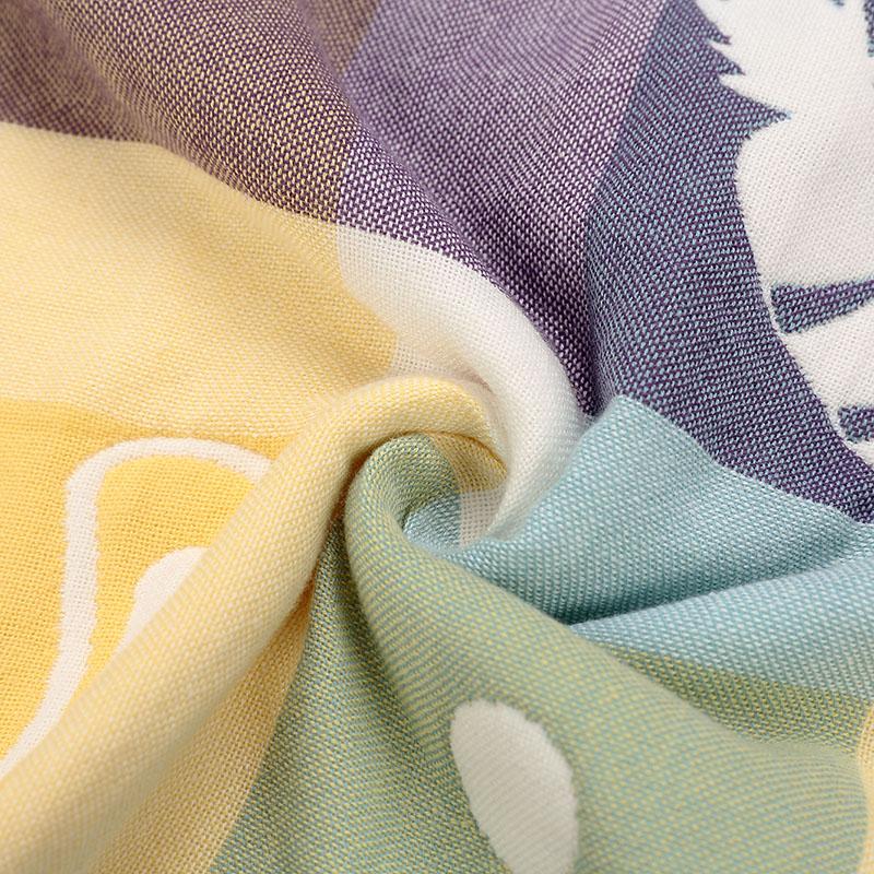 零听海勒兔儿童卡通有机纯棉床单宝宝六层棉纱吸汗床单