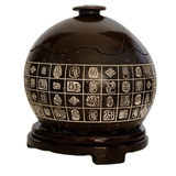 Package-post painting ornaments coconut carving hundred futu with base coconut shell tea pot Hainan characteristic style gift