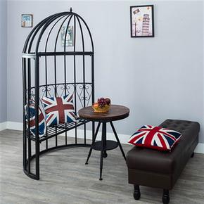 创意半圆艺术鸟笼铁艺座椅户外庭院装饰休闲餐椅阳台双人时尚椅子