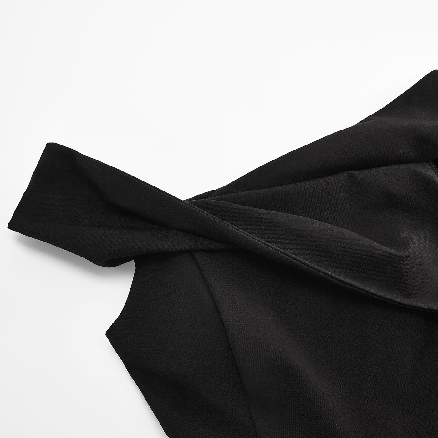 糖力打折连衣裙2018夏装新款女交叉露肩小礼服假两件高腰显瘦短裙