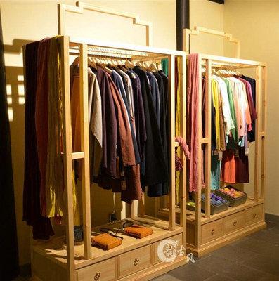 老榆木家具玄关挂衣柜 衣帽架 实木多功能柜 客厅柜服装店衣服架新品特惠
