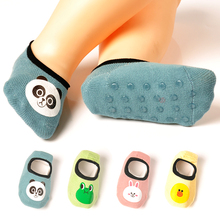 Children's socks, non-skid floor socks, pure cotton, spring, autumn and summer, thin baby shoes, socks, soft soles, indoor infant walking