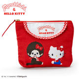 Japan Genuine Hello Kitty x Monchhichi Small Handbag Tissue Bag Coin Purse Cosmetic Bag