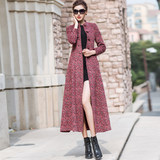 Cashmere coat in the long plus 2018 Korean version of the new ceiling winter dress style style slim-trimmed coat woman