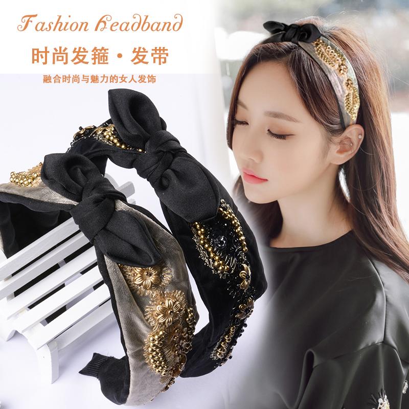 韩版串珠发带