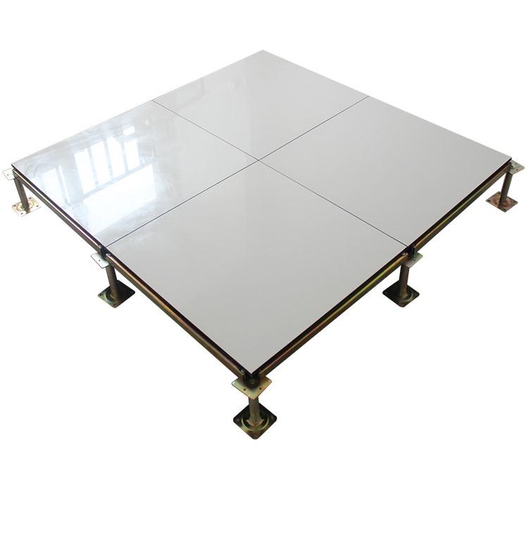 2018新款防静电地板600 600 机房陶瓷砖国标全钢高架活动地板学校