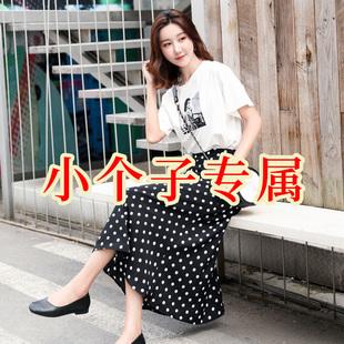 鱼尾裙子新款夏女2019150小个子雪纺半身裙