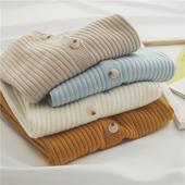 竖纹理显瘦纯色针织毛衣开衫 细细双坑条 UI家最后一个针织系列