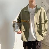 韩版 夹克 潮牌帅气衣服潮流宽松ins很仙 工装 春秋季薄款 外套男士图片