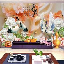 3D立体电视背景墙壁纸现代8D大型玉雕无缝壁画5D立体客厅影视墙布