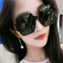 New box Polarized Sunglasses for men and women fashionable black oversize Frame Sunglasses with round face and retro facial repair glasses
