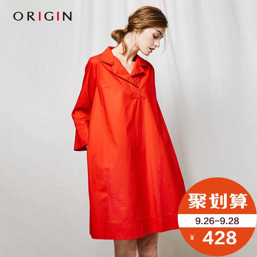 棉连身中长裙