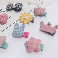 Super cute ~ pet Teddy dog ​​hairpin head flower Pomeranian bear assembly jewelry Bomei Yorkshire hairpin