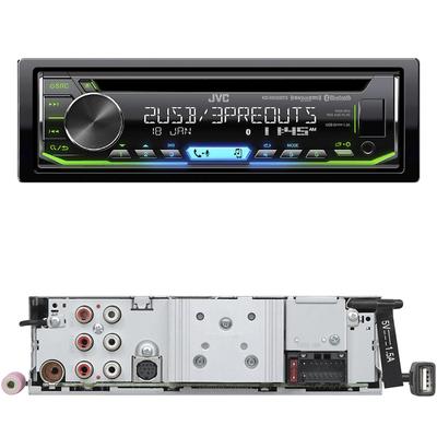 JVC车载CD机5V三组RCA输出双USB蓝牙3.0 FLAC无损秒杀163EBT 970