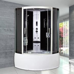 整体淋浴房洗澡沐浴房带浴缸浴室洗浴间桑拿房钢化玻璃一体式浴室