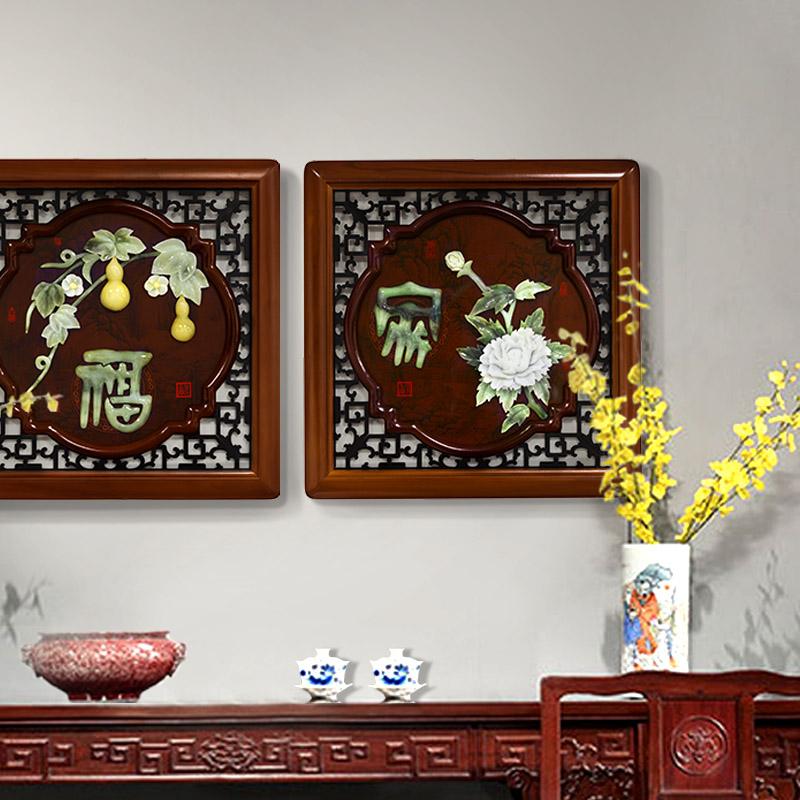 中式木雕挂画装饰画